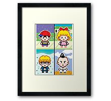 Chosen Four Square - Earthbound Pixel Art Framed Print