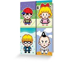 Chosen Four Square - Earthbound Pixel Art Greeting Card