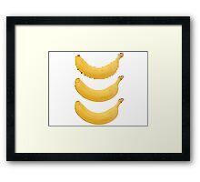 Pixel Banana Framed Print