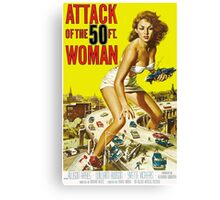 Attack of the 50ft Woman 1958 (PD) Canvas Print