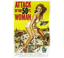 Attack of the 50ft Woman 1958 (PD) Poster