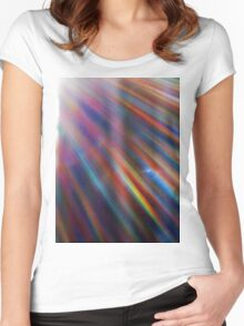 Cosmic rays in the forest Women's Fitted Scoop T-Shirt