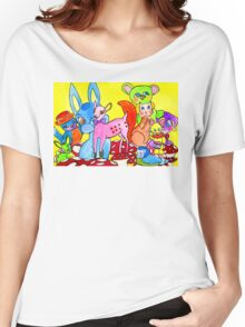 Happy Kitschland by Lollypop Arts Women's Relaxed Fit T-Shirt