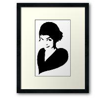 Amélie (black) Framed Print