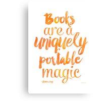 Mango Books are a uniquely portable magic  Canvas Print