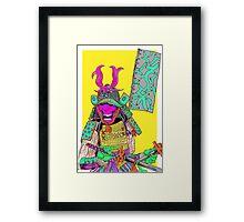 BlackBrain Samurai — Yellow Framed Print