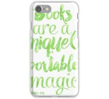Green apple - Books are a uniquely portable magic iPhone Case/Skin