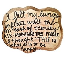 Sylvia Plath Happy Tree Ring Quote by savboerger
