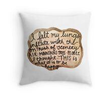 Sylvia Plath Happy Tree Ring Quote Throw Pillow