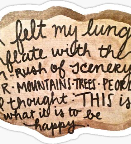 Sylvia Plath Happy Tree Ring Quote Sticker