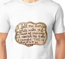 Sylvia Plath Happy Tree Ring Quote Unisex T-Shirt