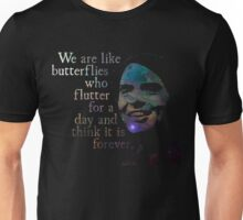 We Are Like Butterflies - Carl Sagan Unisex T-Shirt
