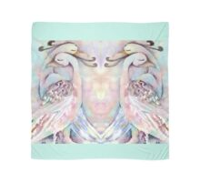 Pastel Love Birds Duo Watercolour Painting Alternate Options Scarf