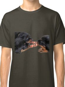 Loving and Sharing Rottweiler Puppies Classic T-Shirt