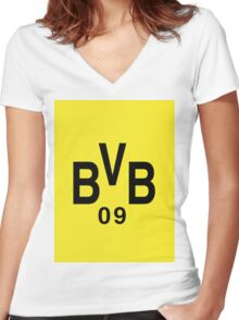 BVB FTW! Women's Fitted V-Neck T-Shirt