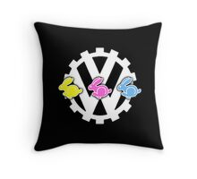 3 Little Rabbits - By SUMO Throw Pillow