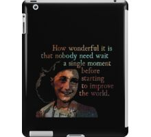 A Single Moment - Anne Frank iPad Case/Skin