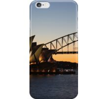 Sydney sunset over the harbour iPhone Case/Skin