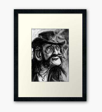 Lemmy, Killed by Death. Framed Print