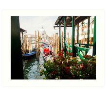 Gondolas of Venice Art Print
