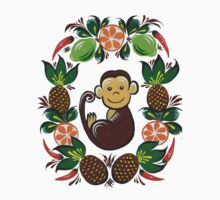Monkey and fruit Kids Tee