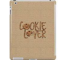 Cookie Lover Delicious Chocolate Chip Yummy Burlap iPad Case/Skin