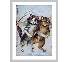 Ice Skating Cats by Maurice Boulanger Photographic Print