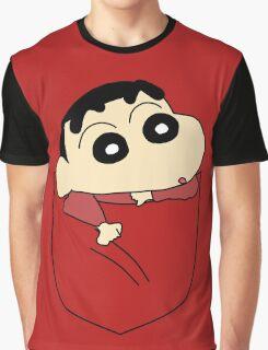 Pocket Shin Chan Graphic T-Shirt