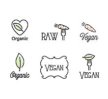 Vegan, Raw, Organic Photographic Print