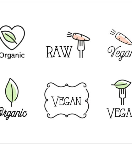 Vegan, Raw, Organic Sticker