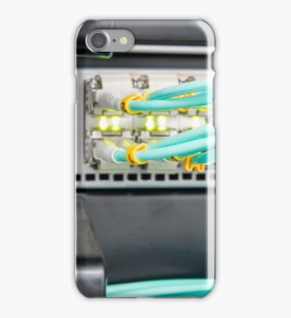 Fibre Optic Patch Leads in Networking Router iPhone Case/Skin
