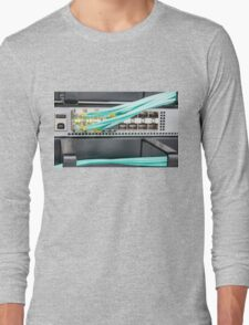 Fibre Optic Patch Leads in Networking Router Long Sleeve T-Shirt