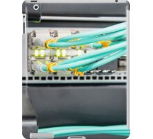 Fibre Optic Patch Leads in Networking Router iPad Case/Skin