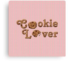 Cookie Lover Delicious Chocolate Chip Pink Stripes Canvas Print