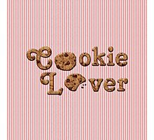 Cookie Lover Delicious Chocolate Chip Pink Stripes Photographic Print