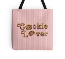 Cookie Lover Delicious Chocolate Chip Pink Stripes Tote Bag