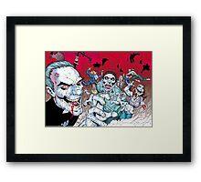 Zombie walking dead Framed Print