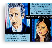 The Loyal Doctor or Clara's Betrayal Canvas Print