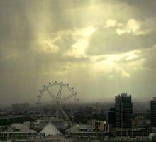 Rain Approaching, Docklands, Melbourne Sticker