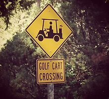 Golf Cart Crossing by Claire Ramsey