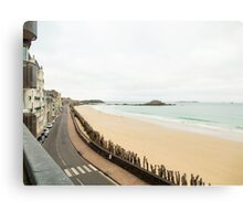 Saint-Malo : Ancient Walled Port City : Brittany, France Canvas Print