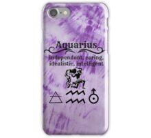 Aquarius Star Sign Design iPhone Case/Skin