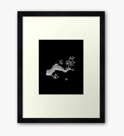 Cherry tree negative Framed Print