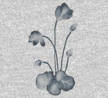 Ink flower negative One Piece - Short Sleeve