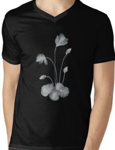 Ink flower negative Mens V-Neck T-Shirt