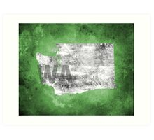 Washington Texture Art Print