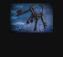 """Enter by the narrow gate"" - Blue keys Unisex T-Shirt"