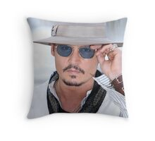 Cool Johny Depp - tri Throw Pillow