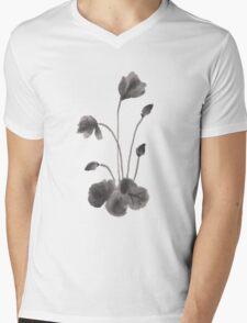 Ink flower Mens V-Neck T-Shirt