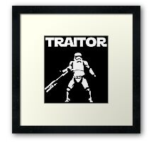 Star Wars TRAITOR (Star Wars font) Framed Print
